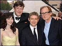 Zooey Deschanel, Stephen Fry, Martin Freeman and Billy Nighy