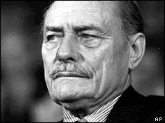 The late Conservative politician Enoch Powell