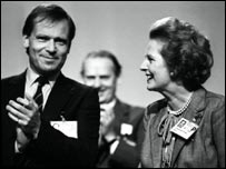 Lord Archer with Baroness Thatcher