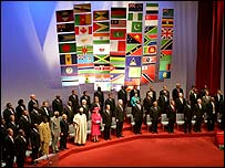 Commonwealth leaders at the summit opening