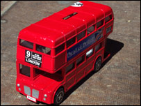 Souvenir red bus