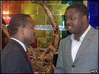 Harry Olympio (l) and Faure Gnassingbe (r)