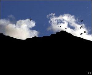 Volcán Galeras en erupción