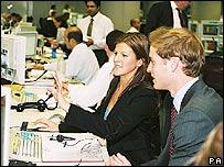 Prince William with City worker Stephanie Weedon