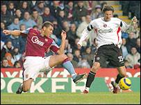 Villa's Wilfred Bouma and Charlton's Alexei Smertin