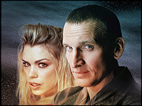 Billie Piper as Rose and Christopher Eccleston as the Doctor