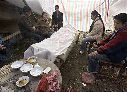 Funeral in Ruichang after the earthquake