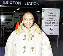 Zacarias Moussaoui at Brixton tube station