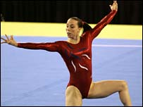 Beth Tweddle in action