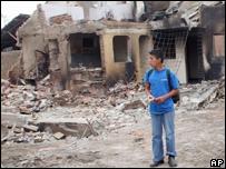 Edificios destruidos en Toribio