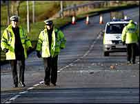 Police at scene - copyright Chris McNulty