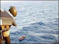 Migrant vessel at sea