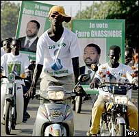 Supporters of Faure Gnassingbe