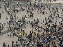 Ecuatorianos en las calles