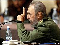 President Fidel Castro of Cuba
