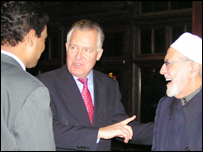 Ali Ahmed, Peter Hain and Sheik Said (pic: Labour Party)