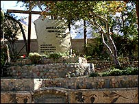 Mausoleo de Gabriela Mistral en Montegrande. (Foto: Manuel Toledo)