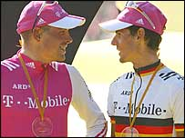 Jan Ullrich (left) and Andreas Kloden