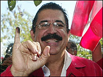Manuel Zelaya, presidente de Honduras