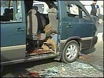 The minibus was carrying pilgrims when it was attacked near a checkpoint