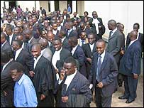 Ugandan lawyers on strike