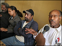 (Left to right): Human rights activist Prof Mesfin Woldemariam and the opposition CUD's Birtukan Midek, Berhanu Nega and leader Hailu Shawel