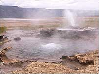 Hot water geyser