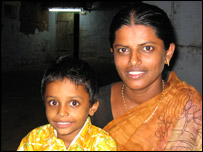 Vennila with her son