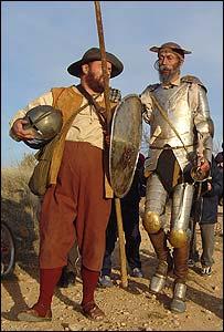 El Caballero de la Triste Figura y su noble escudero.