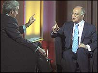 Michael Howard and Jeremy Paxman
