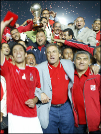 Ahly with the African Champions League trophy