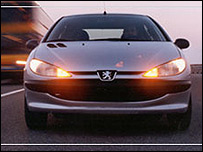 Peugeot car made by Iran Khodro