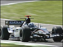 Patrick Friesacher at the wheel of the new Minardi at Imola