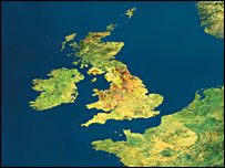The UK viewed from Envisat (Esa)