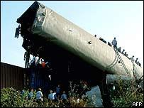 India train accident site in Gujarat