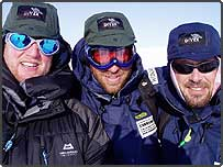 Team Commando Joe members celebrating St George's Day by embarking on the 350 mile Scott Dunn Polar Challenge, a race on skis to the Magnetic North Pole for charity