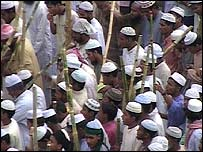 Protesters in Bogra, Bangladesh