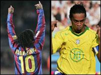 Con el Barcelona y Brasil.