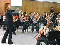 Una orquesta juvenil en Venezuela