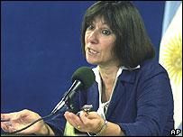 Argentina's new Economy Minister Felisa Miceli