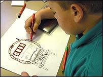 Pupil drawing gypsy caravan (Pic: Cinetig)
