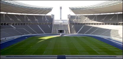 A view of the Olympiastadion in Berlin