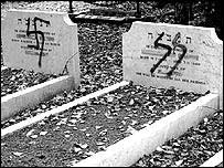 Desecrated Jewish grave