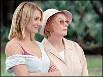Cameron Diaz and Shirley MacLaine