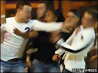 Man fighting