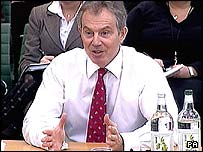 Tony Blair at a Commons Liaison committee