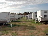 Trailer camp in Baker, Louisiana