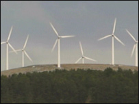 Wind farm in Lanarkshire