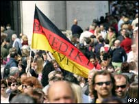 German supporters of Pope Benedict XVI