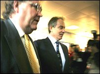Sir Digby Jones and Tony Blair